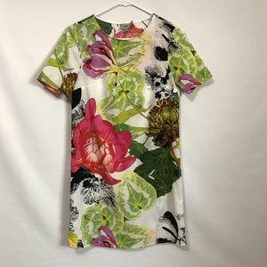 ASOS Floral Shift Dress Semi Sheer T Shirt Dress